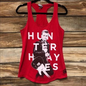 Hunter Hayes country singer red racerback tank top